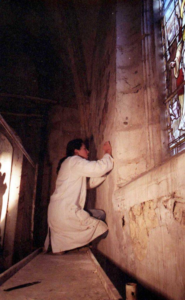 L'attribut alt de cette image est vide, son nom de fichier est 1985-04-19-Sermaise-eglise-rest.-peinture-3--632x1024.jpg.